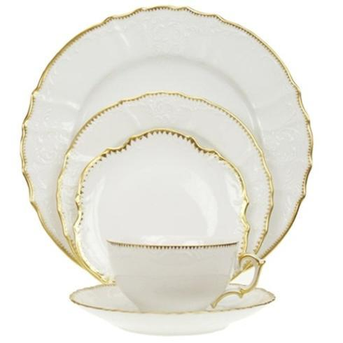 Pieces of Eight Exclusives   Simply Anna Gold 5 Piece Place Setting $255.00