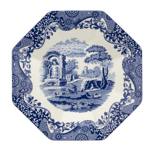 "Pieces of Eight Exclusives   Blue Italian 14"" Octagonal Platter $110.00"