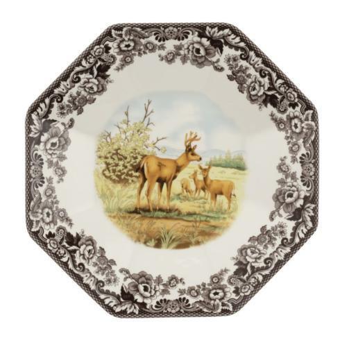 "Pieces of Eight Exclusives   Woodland 14"" Octagonal Platter-Deer $110.00"