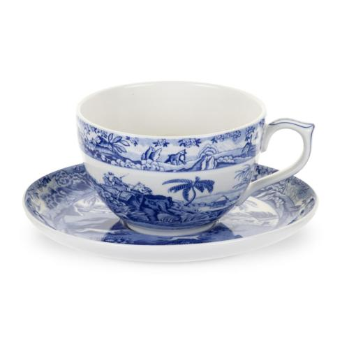 $26.60 Blue Italian Jumbo Cup & Saucer