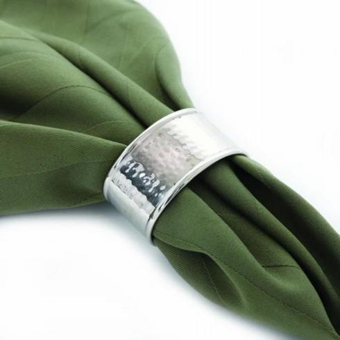 Pieces of Eight Exclusives   Hammered Nickel Napkin Ring $7.50