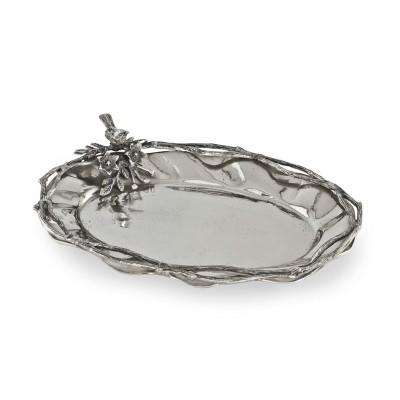 Star Home   Oval Platter with Bird $110.00
