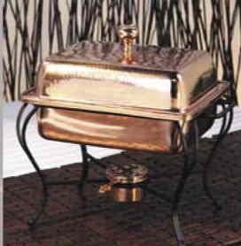 $245.00 Chafing Dish Copper-Square 2 Quart