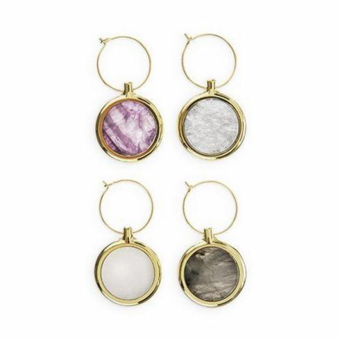 Agate Wine Charms-Set/4 collection with 1 products
