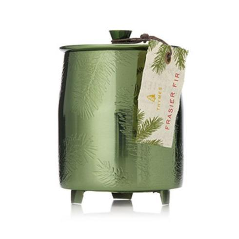 Frasier Fir Poured Candle in Green Metal Tin-Medium collection with 1 products