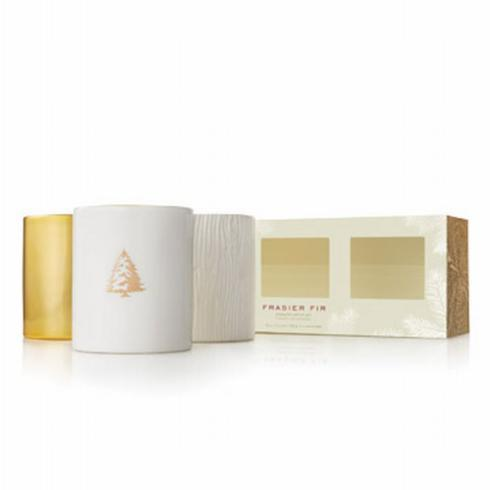 Frasier Fir Gilded Candle Trio Set collection with 1 products