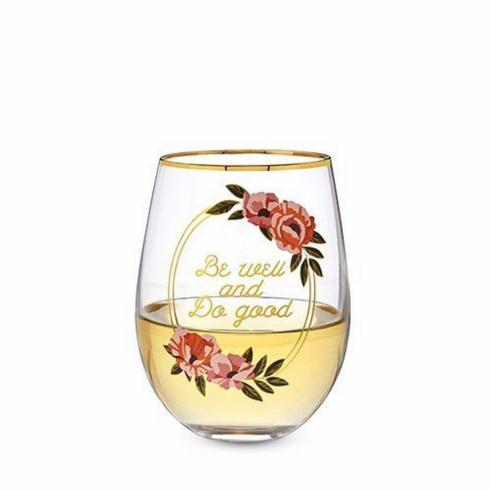 $14.95 Stemless Wine-Be Well-Do Good