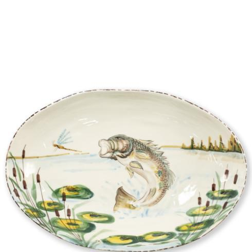 Pieces of Eight Exclusives   Wildlife Bass Oval Platter $184.00