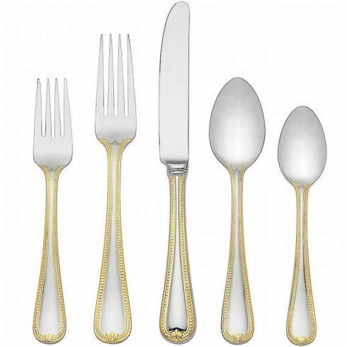 Vintage Jewel Gold Flatware 5 Piece Place Setting collection with 1 products
