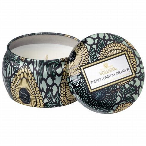 $10.95 French Cade/Lavender Mini Candle Tin