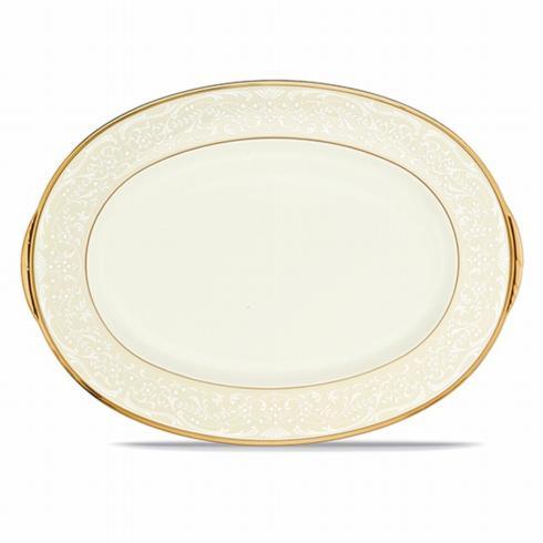 """Noritake   White Palace Oval Platter 14"""" $200.00"""