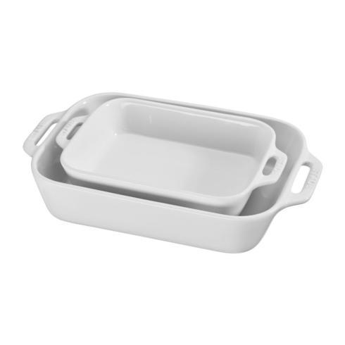 $55.00 2Pc Rectangular Baking Set-White