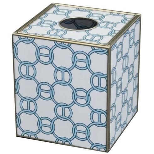 Blue Chain Tissue Box