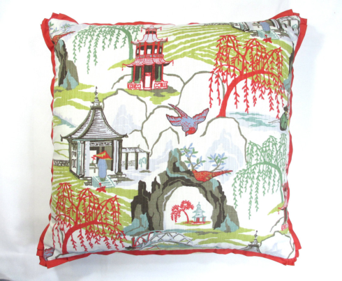 """$270.00 Neo Toile Coral w/Cupcake Flange 22"""" Sq. Pillow"""