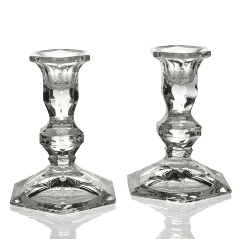 $150.00 Polly Crystal Candlestick Pair