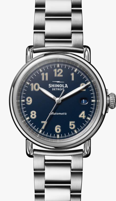 $1,295.00 Runwell Automatic 39.5 mm Midnight Blue Dial / Silver Bracelet