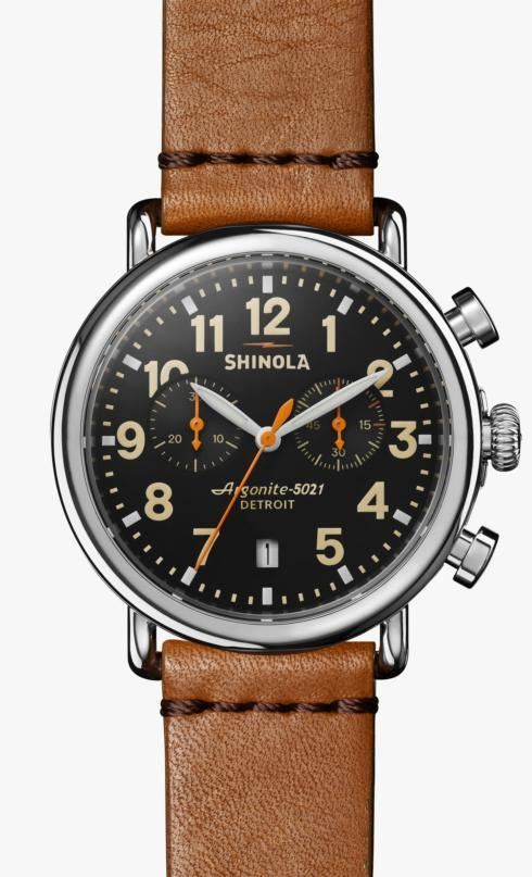 $750.00 Runwell 41mm Black Dial / Tan Leather Strap