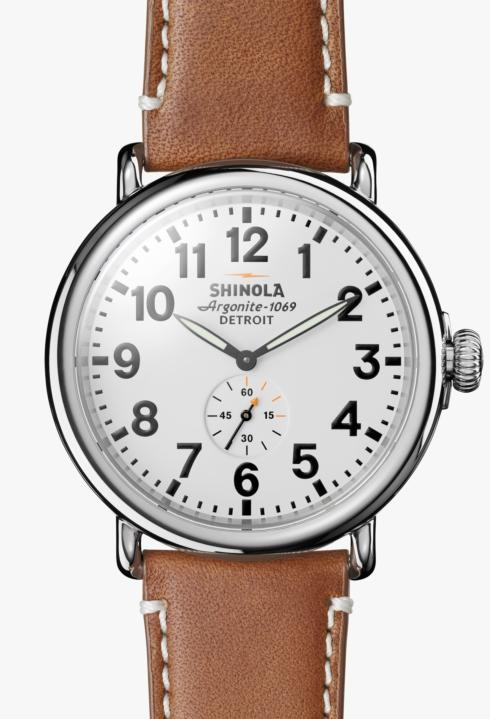 $550.00 Runwell 47mm White Dial / Tan Leather Strap