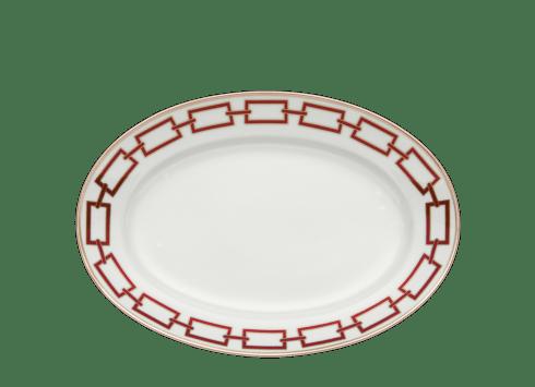 $325.00 Catene Oval Flat Platter Scarleto