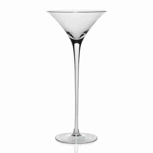 $69.00 Lillian tall martini glass