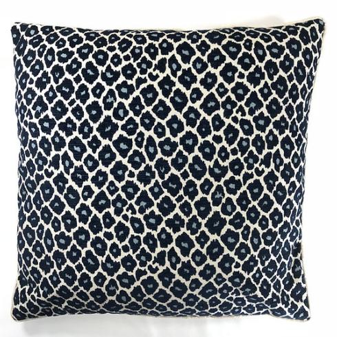 """$270.00 Simba Navy Velvet 22"""" Sq. Pillow"""