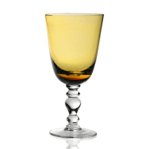 $111.00 Fanny goblet amber
