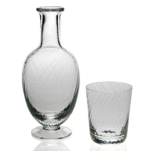 $163.00 Quilty Carafe/Tumbler Glass 2 pc.