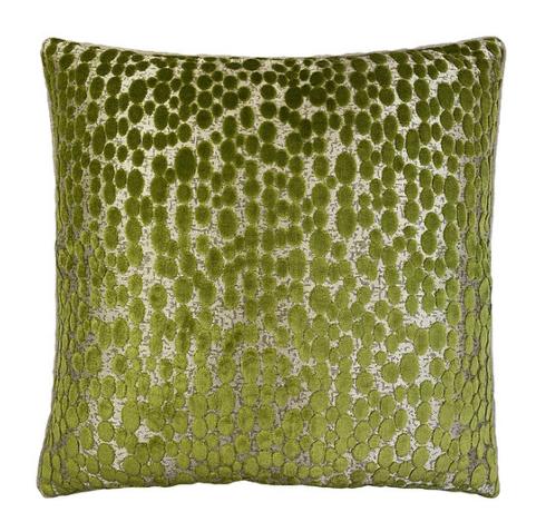 """$270.00 Finch Peridot Velvet 22"""" Sq. Pillow"""