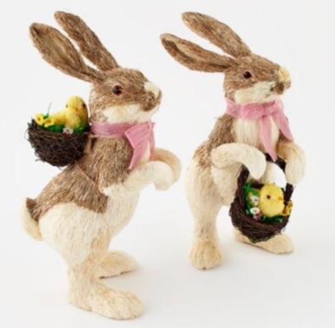 $50.00 Straw Bunny with Basket