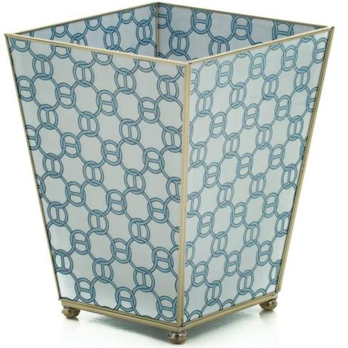 Blue Chain Waste Basket