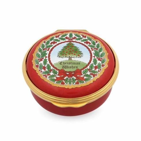 $285.00 Vintage Christmas Wishes Enamel Box