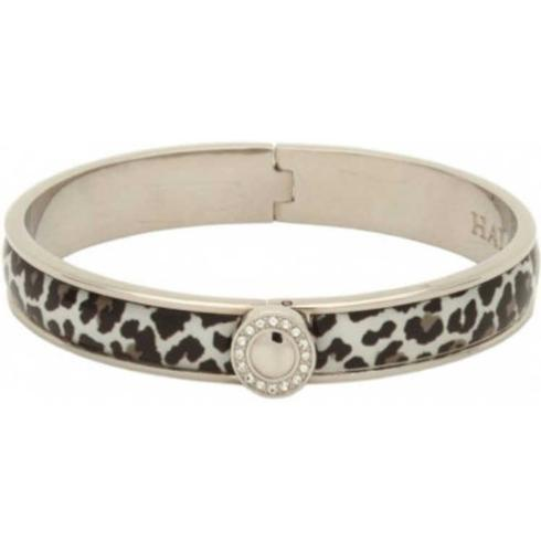 $169.00 Snow Leopard Bangle with Sparkle Button