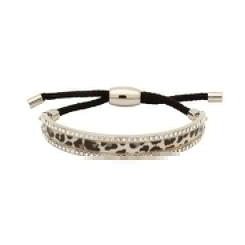 $134.00 Snow Leopard Sparkle Friendship Bangle