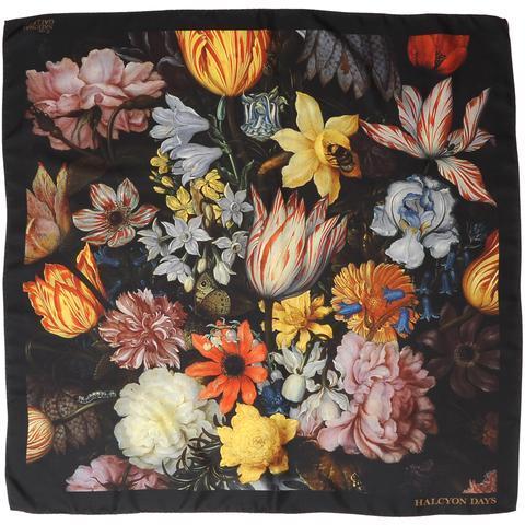 $150.00 Still Life Flower Silk Scarf