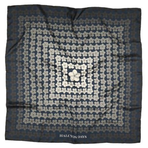 $150.00 Navy Tropical Fade Silk Scarf