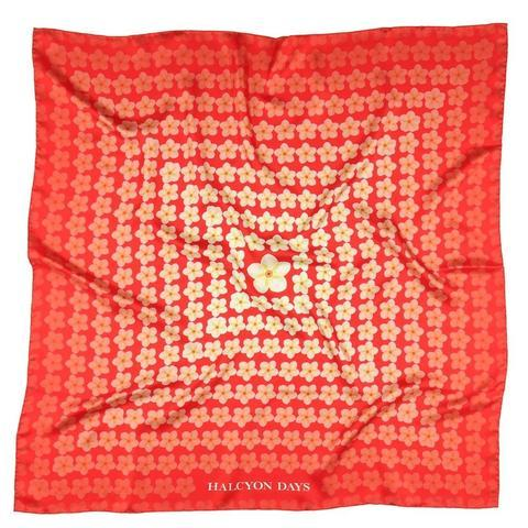 $150.00 Red Tropical Fade Silk Scarf