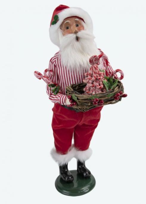 $80.00 Candy Cane Santa Caroler