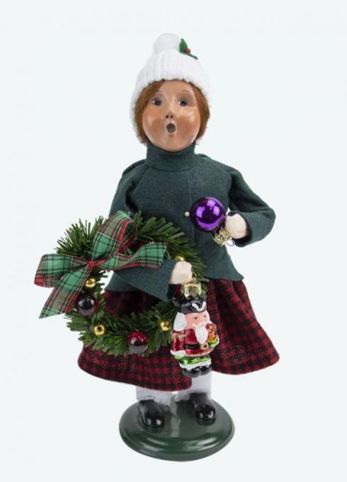 $77.00 Glass Ornament Girl Caroler