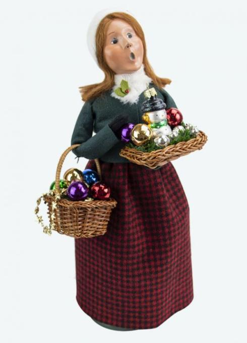 $78.00 Glass Ornament Woman Caroler