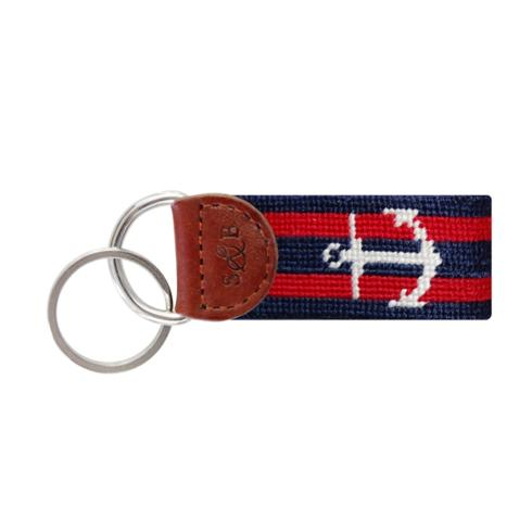 $30.00 Striped Anchor Key Fob