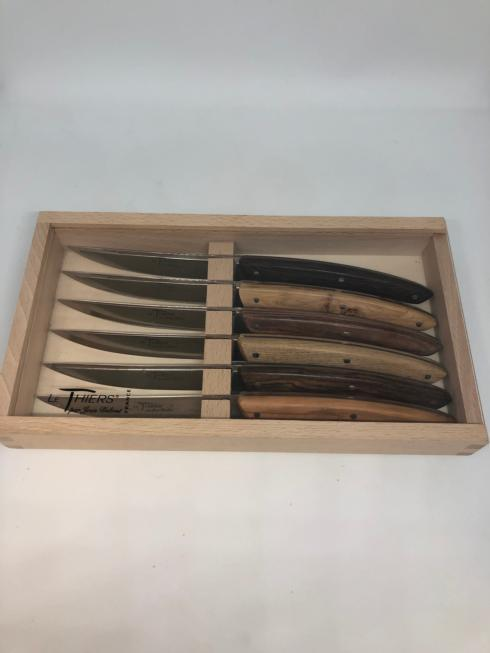 $365.00 Mixed Wood Steak Knives (6pc)
