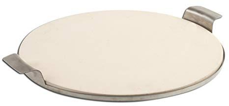 $49.99 Round Pizza Stone with Solid Stainless Frame