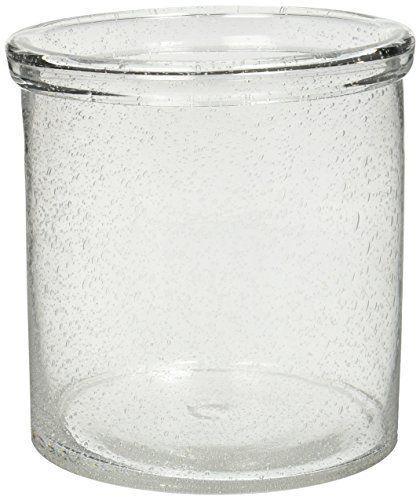 $27.99 Clear Bubble Glass Utensil Crock