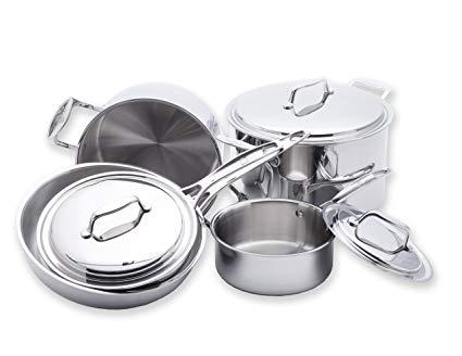 $529.99 8 pc Stainless Steel Cookware Set