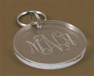 Monogrammed Acrylic Key Chain