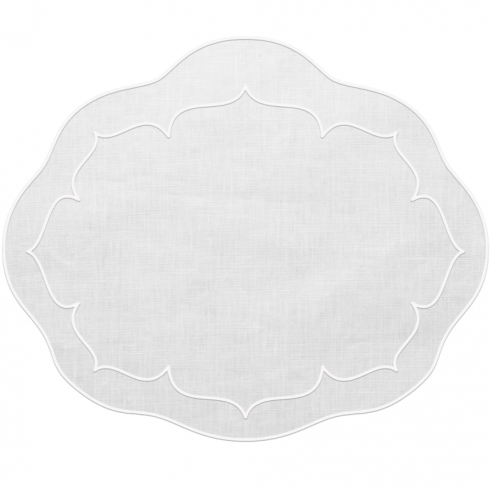 Skyros Designs  Linho Placemats White/White Oval placemats - set of 4 $88.00