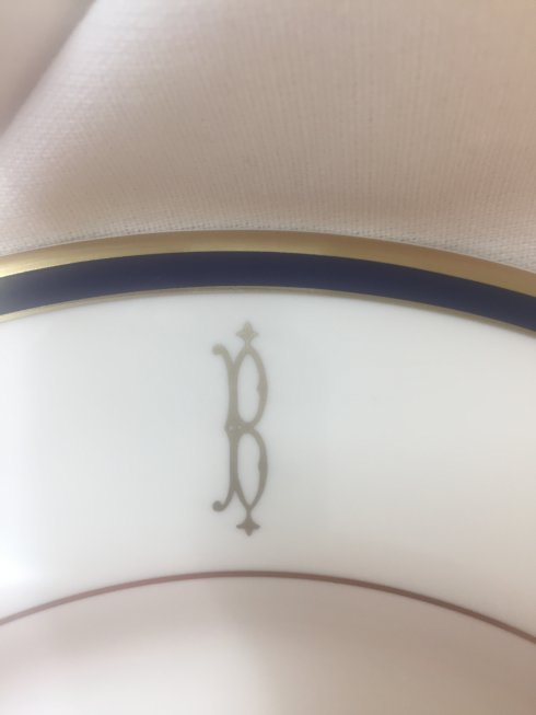 $97.00 Pickard Signature color band with gold halo monogram