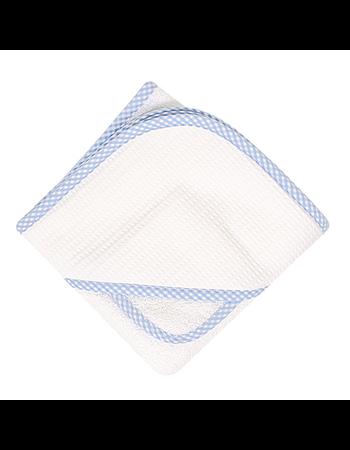 Blue Gingham Pique Boxed Towel Set