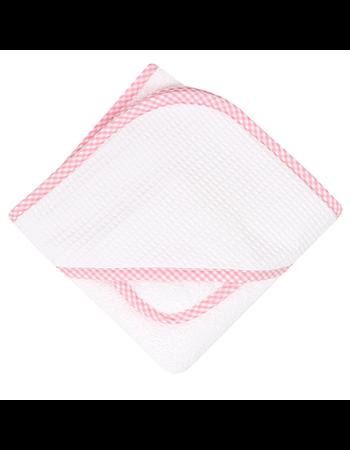 Pink Gingham Pique Boxed Towel Set