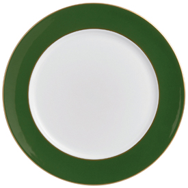 Green Service Plate